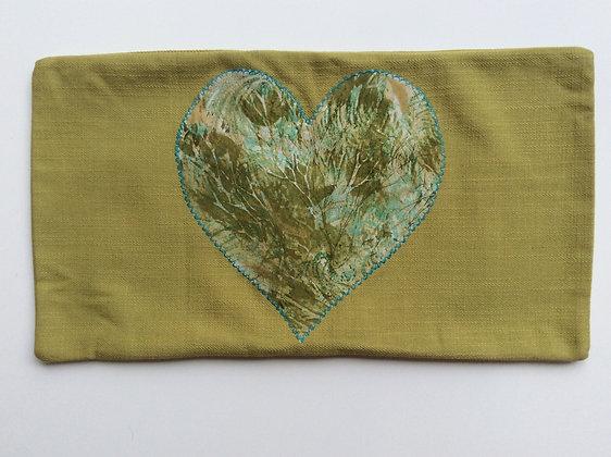 Seaweed Heart Bolster Cushion Cover