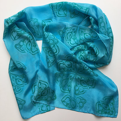 Jewel Heart Silk Scarf