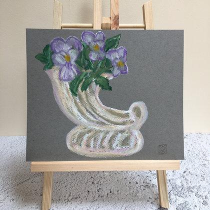 Viola's in a Vintage Vase