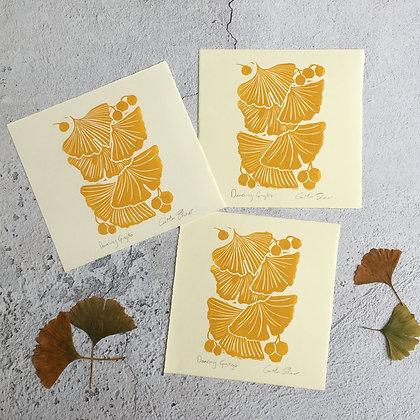 Golden Ginkgo Card