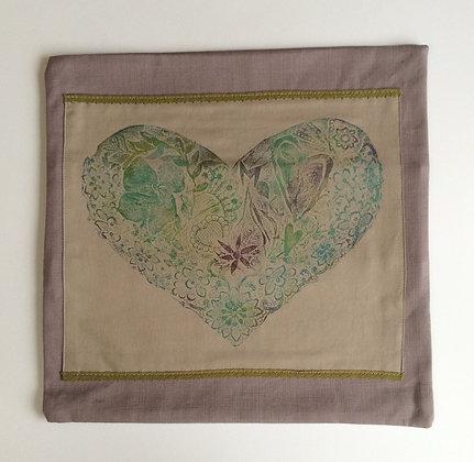 Floral Heart Cushion Cover