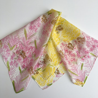 Rose and Tansi Silk Scarf