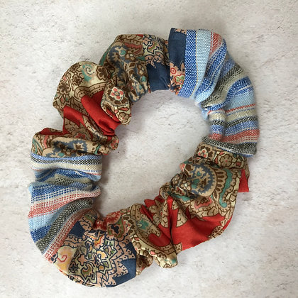 Liberty Paisley and Sienna Stripes Scrunchie