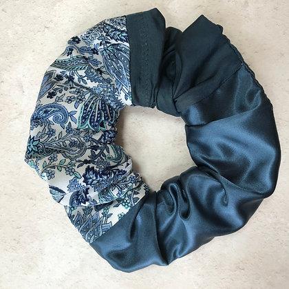 Delphine Blue Scrunchie