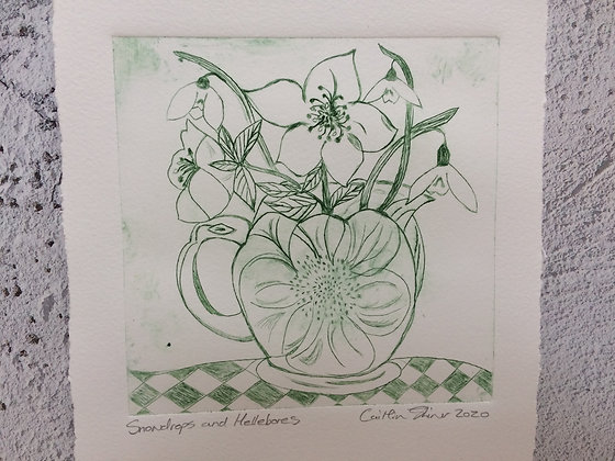 Hellebore and Snowdrops I