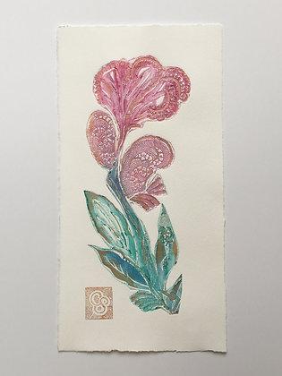 'Peony Pink Antique Flower'