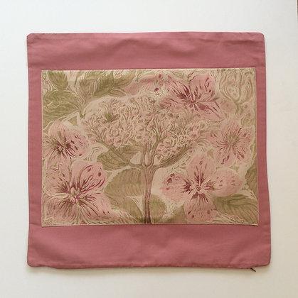 Pink Hydrangea Cushion Cover