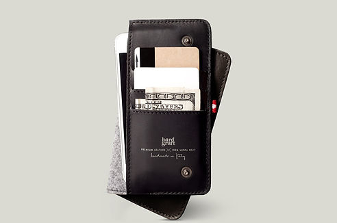 Mighty Phone  Fold Wallet \ Smoke