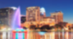 Orlando downtown skyline panorama over L