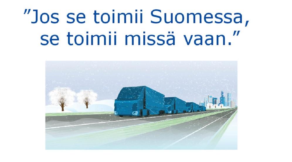 Rekkojen jonoajaminen on ollut suunnitelmissa jo vuosia. Kuvassa LVM:n Kirsi Miettisen esityskalvo robottiliikenteen esityksestä 1.9.2015.
