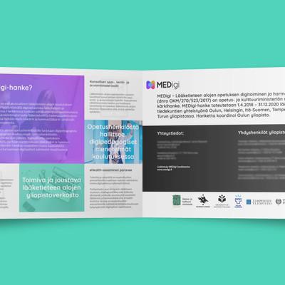 Graafista suunnittelua ja valokuvia MEDigi-hankkeelle