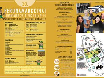Ohjelma, aikataulu ja kartta - Perunamarkkinat 2021