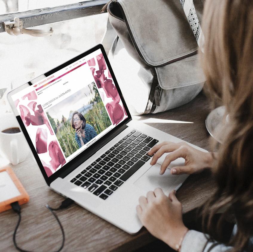 Susanna Sivonen blog view laptop