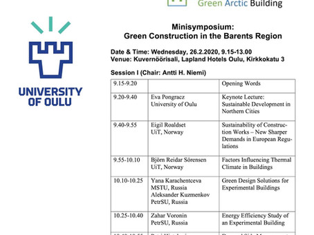Minisymposium: Green Construction in the Barents Region