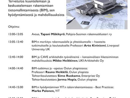 Oulun yliopiston BIM-seminaari