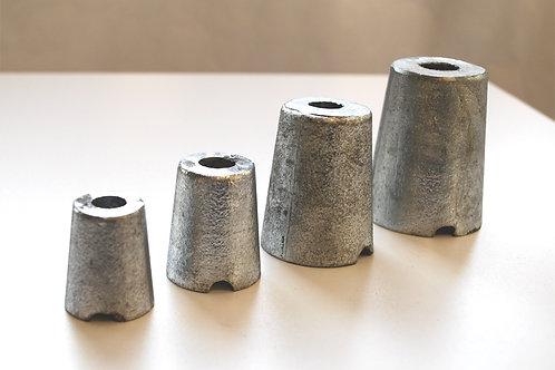 Potkuri/akseli sinkkianodi akselille, axel zinc, shaf anode