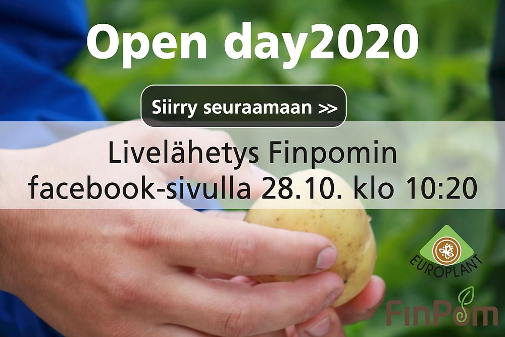Seuraa Finpomin Open day2020 live-lähetystä
