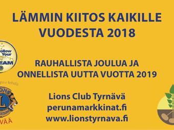 LC Tyrnävä ja Perunamarkkinat toivottavat Hyvää Joulua!