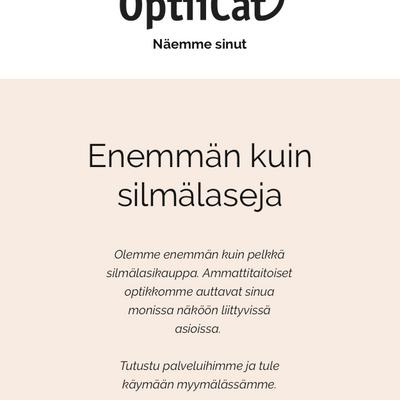 Uudet sivut optikkoliikkeelle | Helsingin Optiicat Oy