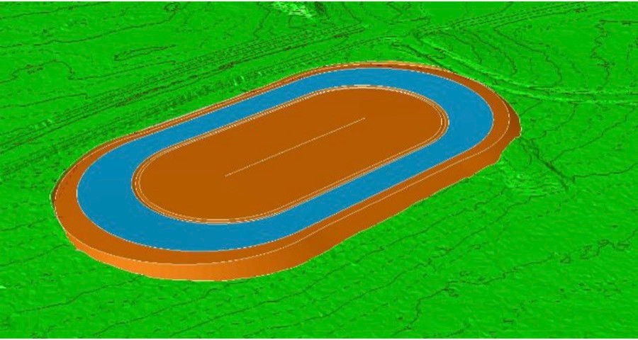 Students built new Speedway-track in OuluZone using Inframodel