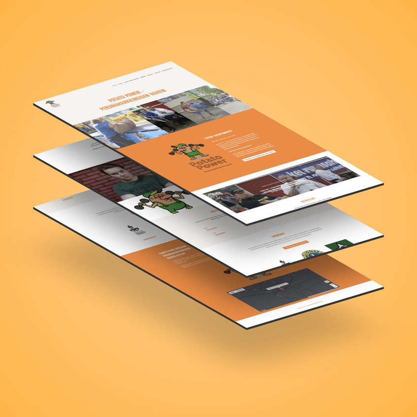 Potato Power webdesign