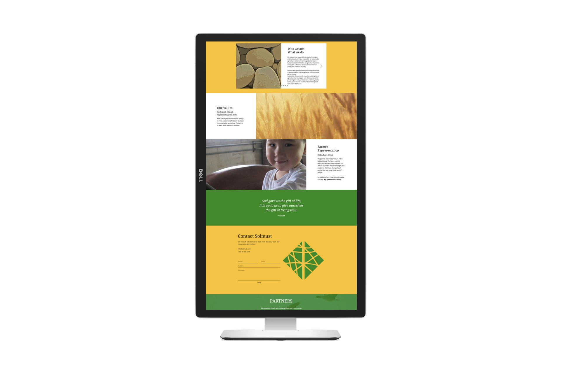 Solmust vertical website view