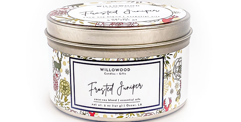 Frosted Juniper Scented Candle