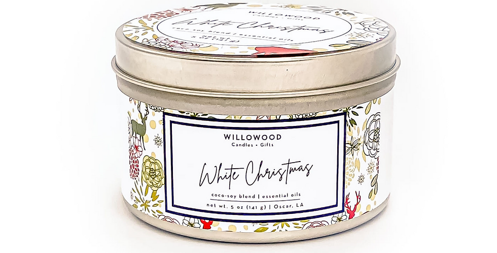 White Christmas Scented Candle