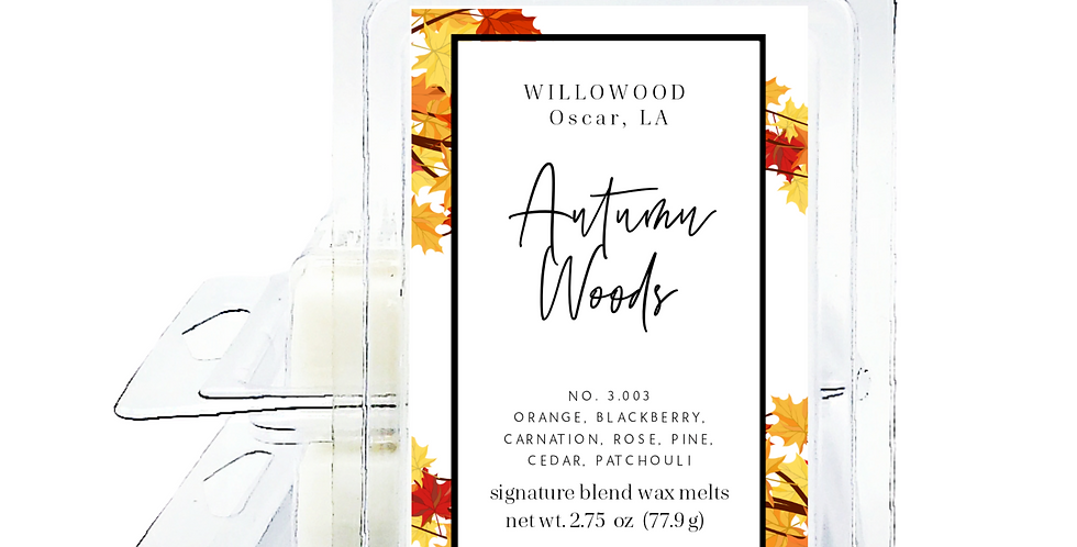 Autumn Woods Scented Wax Melts Twin Pack