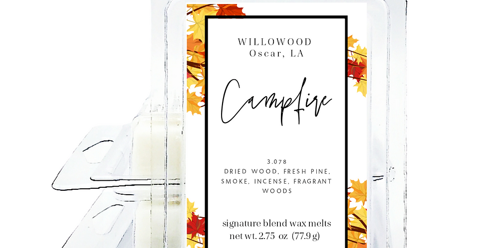 Campfire Scented Wax Melts - Twin Pack