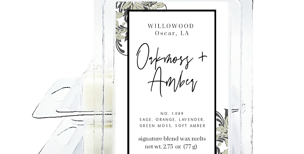 Oakmoss & Amber Scented Wax Melts - Twin Pack