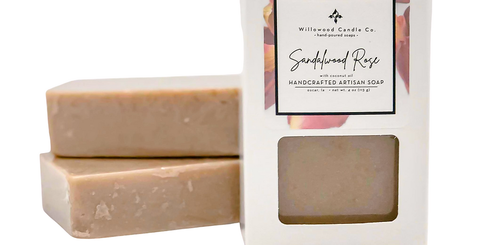 Sandalwood Rose Bar Soap