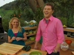 Joking on Grill It! with Bobby Flay