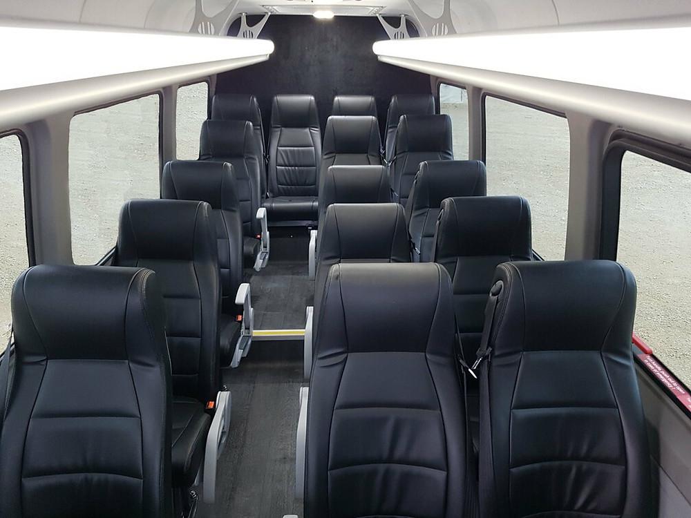 16 seat executive minibus interior