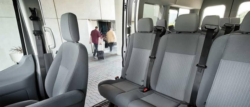Standard minibus interior