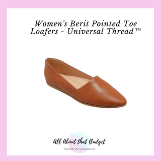 Pointed toe loafers shoes