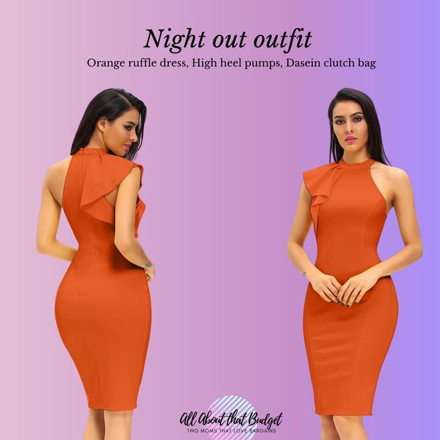 Ruffle orange dress