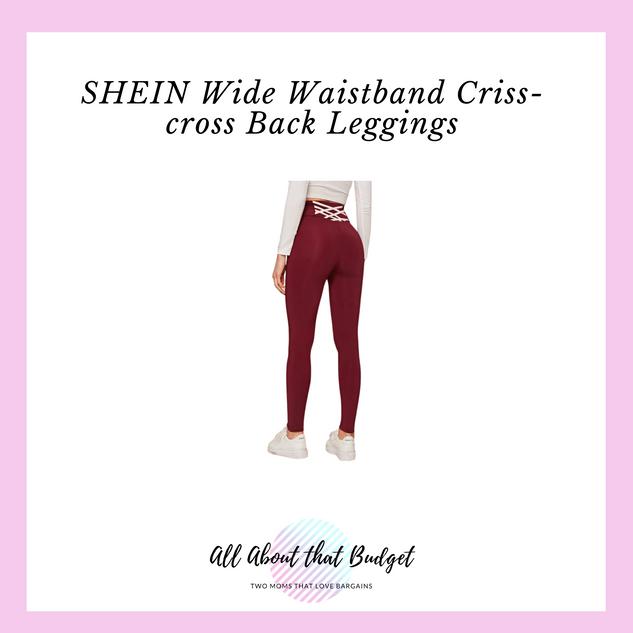 Wide Waistband Criss-cross Back Leggings