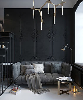 Black-Wall-Interior-play-with-moulding-d
