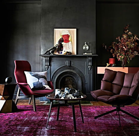 Black-Wall-Interior-with-black-fireplace