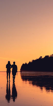couple-sunset-romance-shore-trees-shadow