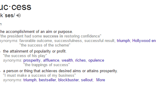 Success: What Is It? Answered by Google