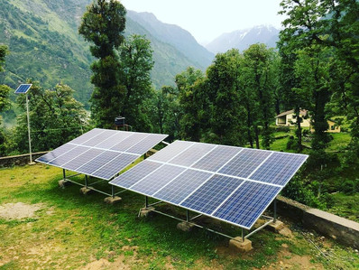 5kW Solar PV system at village Khati for The Hans Foundation