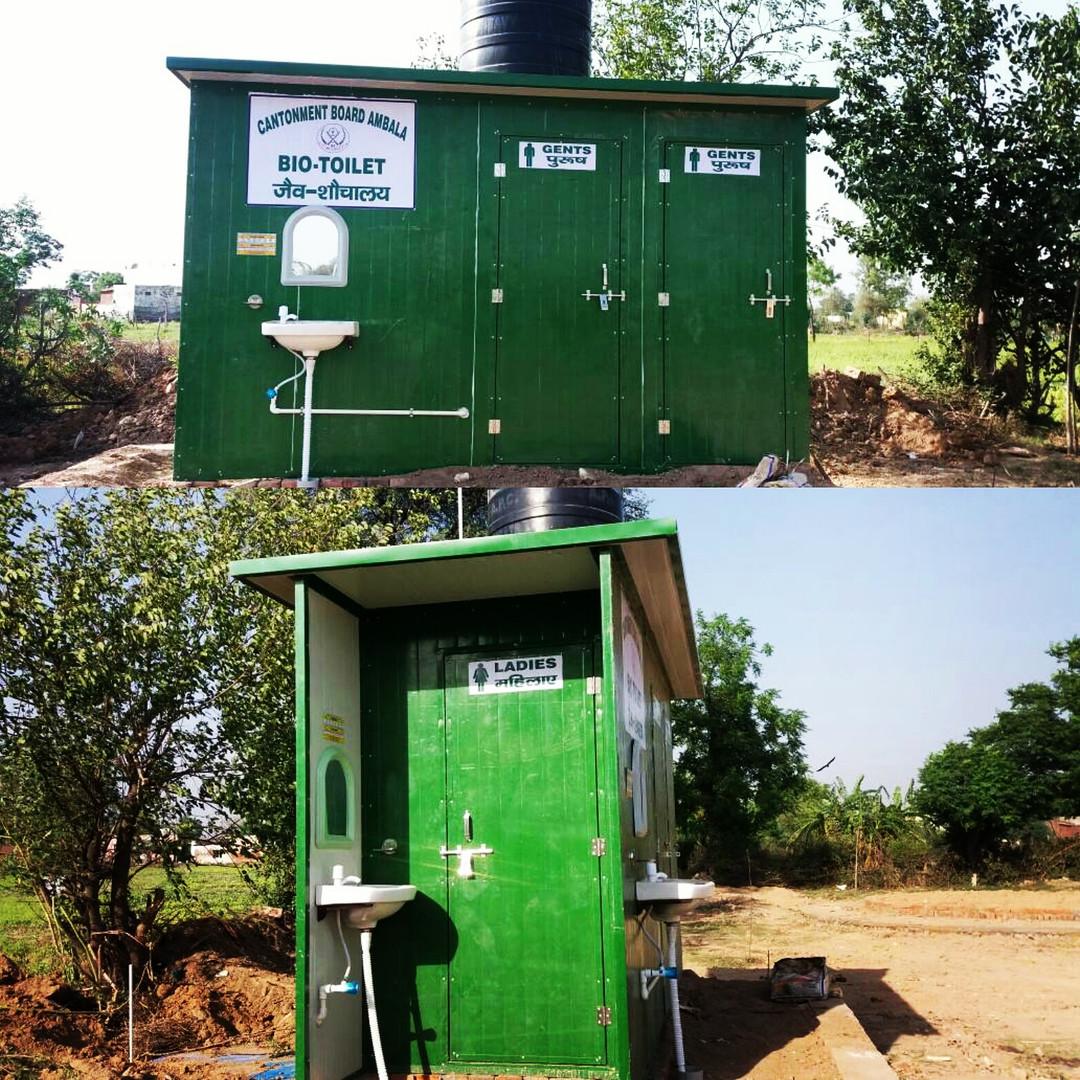 Bio-Toilet installed at  Ambala Cantonment