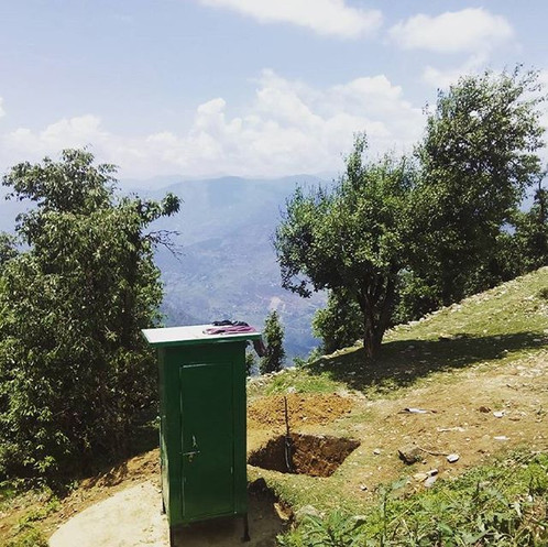 Bio-Toilets insulated with PUF installed at Kartik Swami Temple