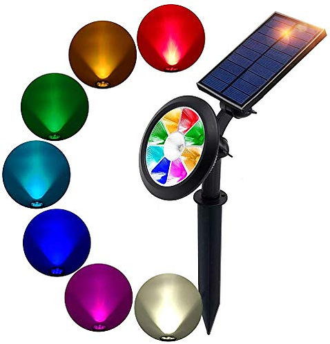 BOHON Solar 9 LEDs Multi Color Spot Light