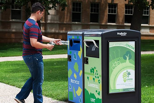 Bigbelly Smart, Solar-Powered Compacting Dustbin