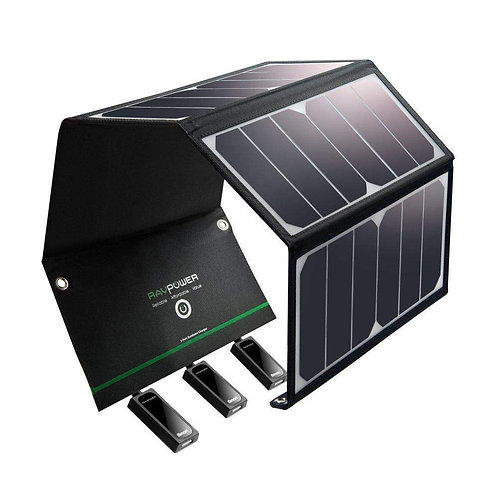 RAVPower 24W Foldable Solar Charger Panel with Triple USB Ports