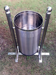 Stainless Steel Mounted Outdoor Dustbin