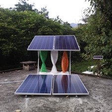 Total of 7KW Wind Solar Hybrid installed at Haldwani Forest Department